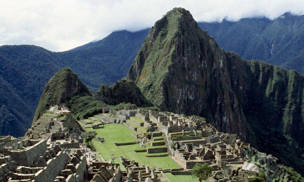 Machu Picchu'nun gökyüzünden görünümü