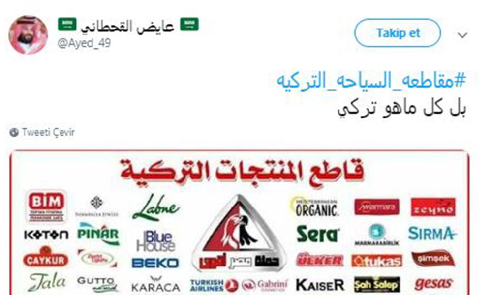 Suudi Arabistan'dan Türkiye'ye boykot çağrısı