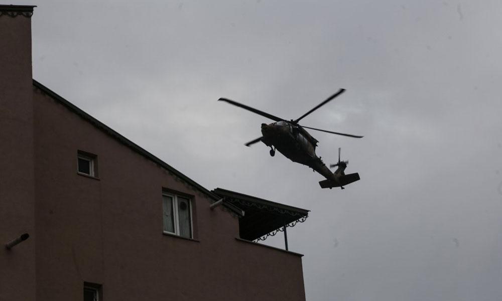 Askeri helikopterin düşme anı ortaya çıktı!