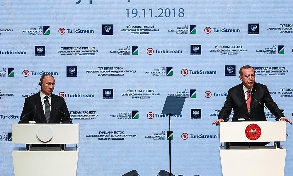 TürkAkım Projesi Töreni'nde Putin ve Erdoğan'dan ortak açıklama