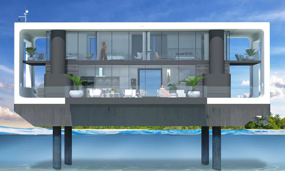 Her hafta farklı bir manzara: Yüzen evler denize iniyor