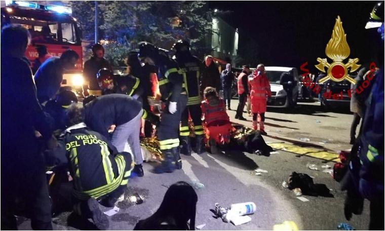 İtalya'da gece kulübünde izdiham: 6 ölü, en az 100 yaralı