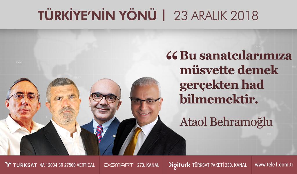 Bu sanatcılarımıza müsvette demek gerçekten had bilmemektir   Türkiye'nin Yönü (23 Aralık 2018)