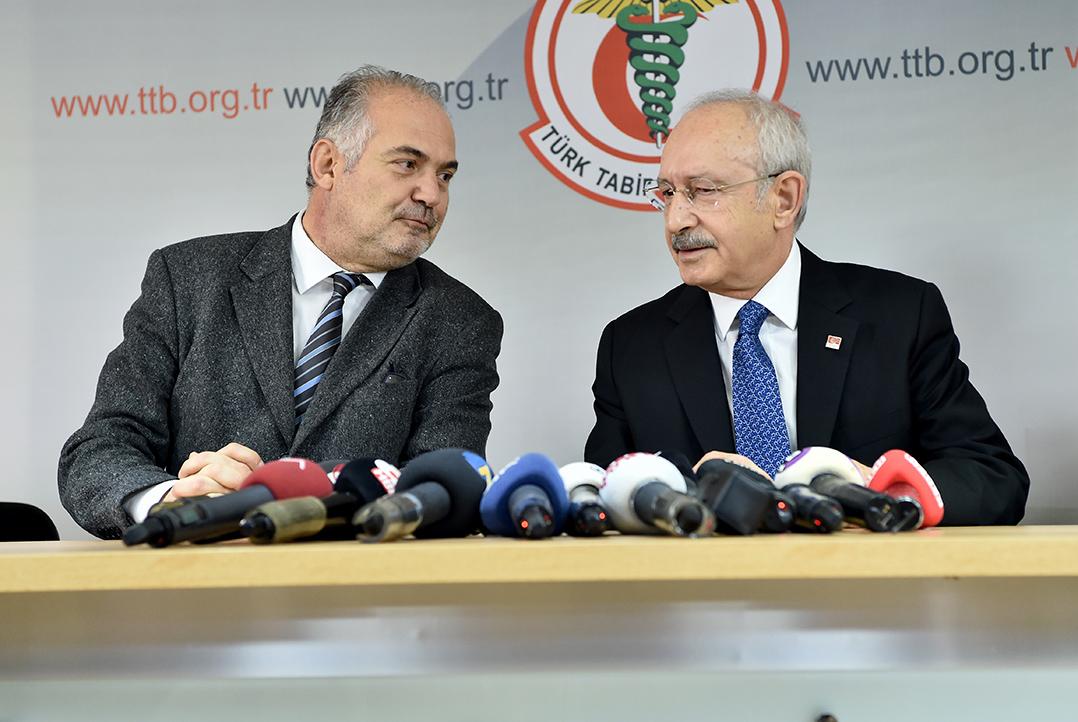 Kılıçdaroğlu'ndan Türk Tabipler Birliği'ne ziyaret