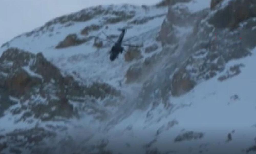 Çığ altında kalan dağcılar böyle kurtarıldı