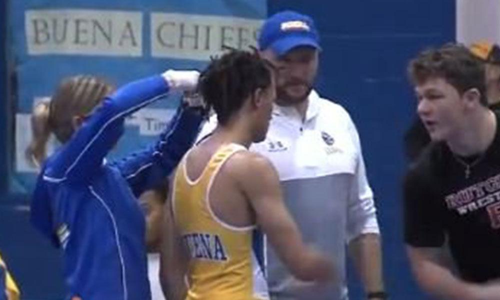 Güreş turnuvasında hakemden skandal hareket: Sporcunun saçını zorla kesti