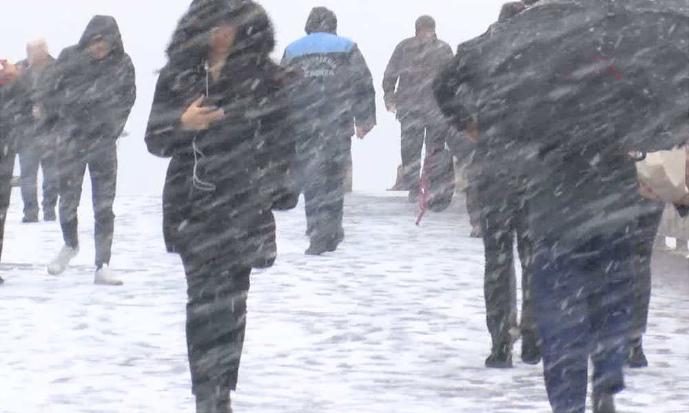 İstanbul'dan ilk kar görüntüleri