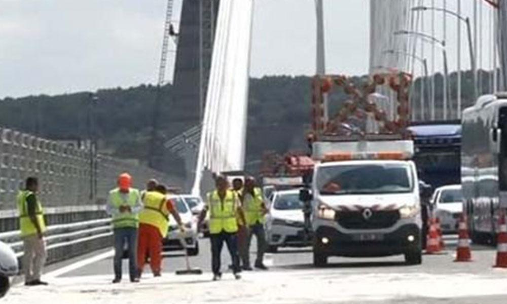 Yavuz Sultan Selim Köprüsü'nde kaza: Avrupa geçişi kapatıldı