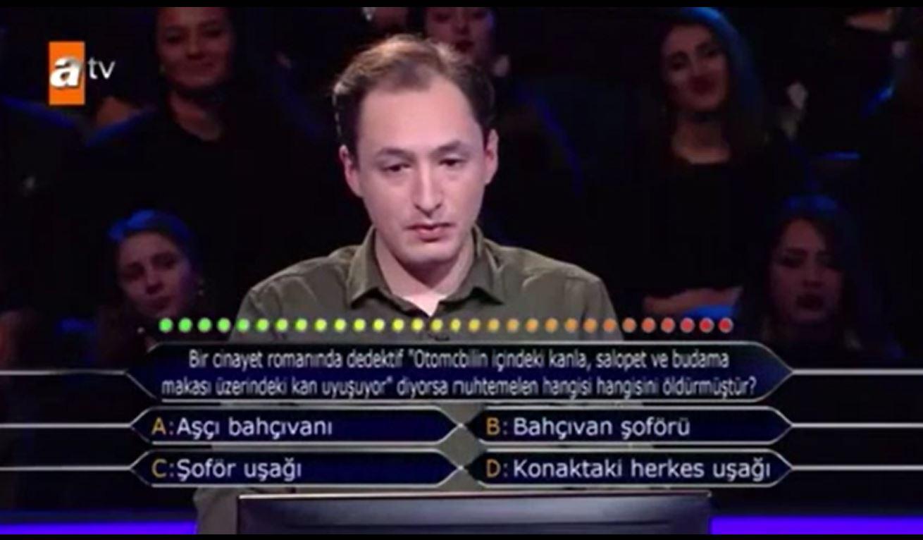 'Cinayet' sorusu yarışmaya damga vurdu