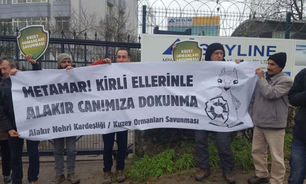 Alakır Vadisi'nde yıkıma karşı yaşamı savunanlara İstanbul'dan destek
