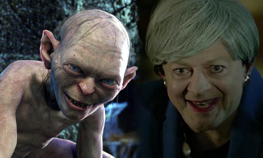 İngiltere Başbakanı May Gollum'a dönüştü: Kıymetli Brexit'im