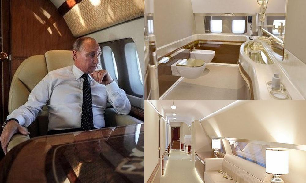 Hasta çocuğun isteği ortaya çıkardı… İşte Putin'in altın tuvaletli lüks uçağı