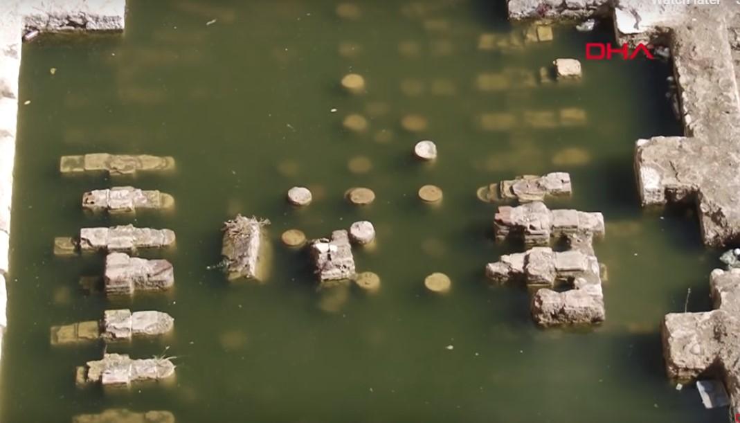İzmir'in merkezinde tarih sular altında