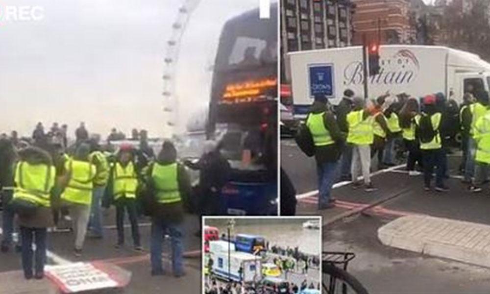 'Sarı yelek' eylemi İngiltere ve İsrail'e sıçradı