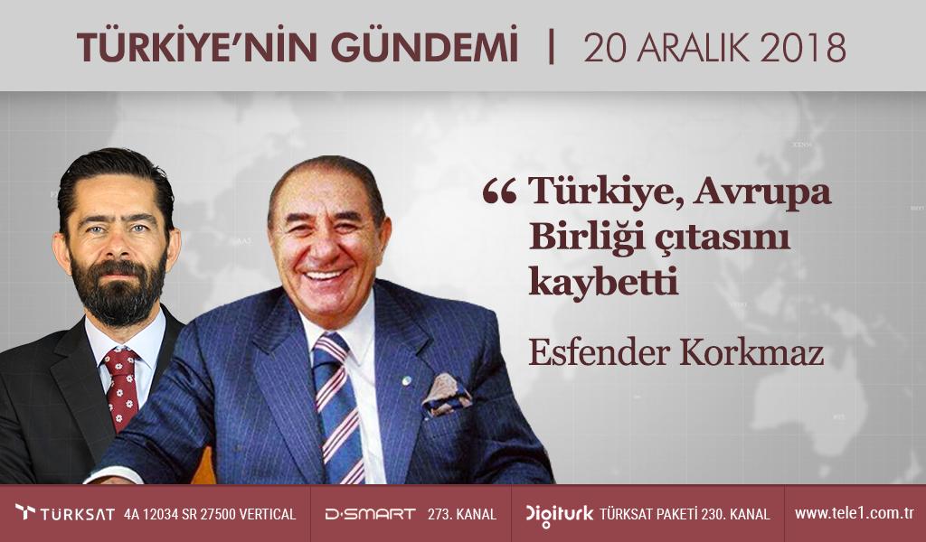 Esfender Korkmaz: Türkiye, Avrupa Birliği çıtasını kaybetti