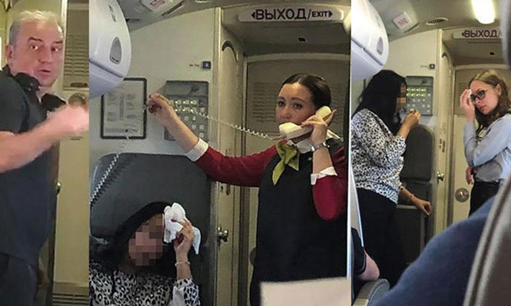 Uçakta cehennem anları! Sıcaklık 50 dereceye çıktı