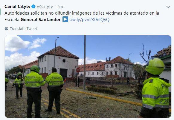 Kolombiya'da polis akademisi önünde patlama