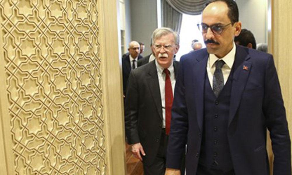 John Bolton başkanlığındaki ABD'li heyet, İbrahim Kalın ile görüştü