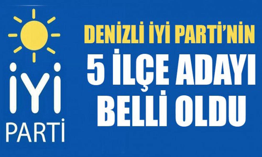 Denizli'de İYİ Parti 5 ilçe adayını açıkladı
