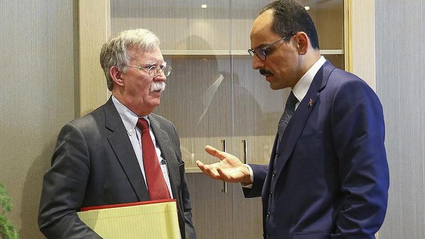 İbrahim Kalın, Beyaz Saray danışmanı John Bolton'la görüştü