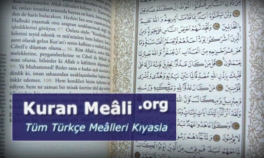 Kuran-ı Kerim'in Türkçe mealine yasak!