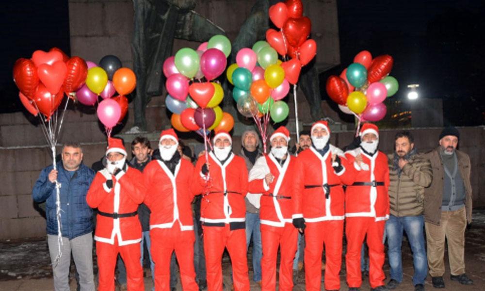 Noel Baba polisler, 6 suçtan aranan şüpheliyi yakaladı