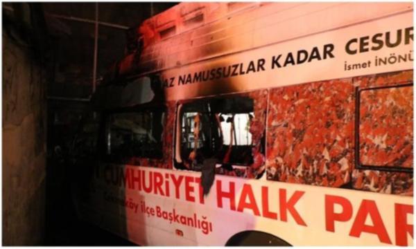 CHP'nin seçim aracı yandı! Sabotaj olabilir…