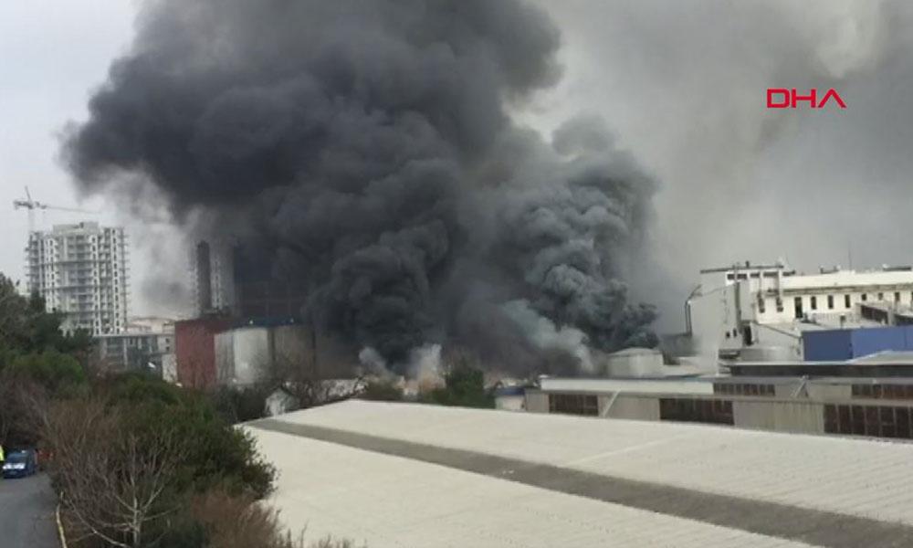 İstanbul'da bira fabrikasında yangın: İtfaiye ekipleri sevk edildi