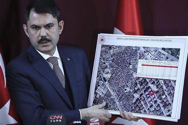 Bakan Murat Kurum: Kartal'da yıkılan binanın etrafındaki 8 bina da riskli