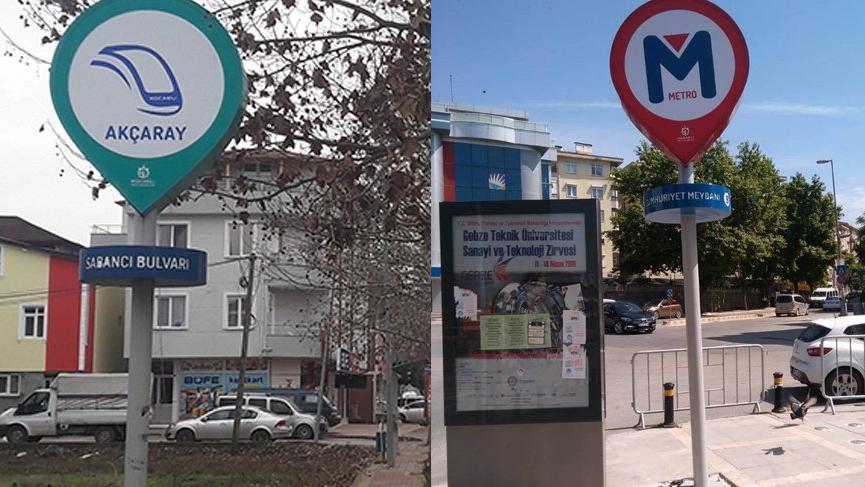 AKP'li belediyeden var olmayan metrodan sonra var olmayan tramvaya tabela!