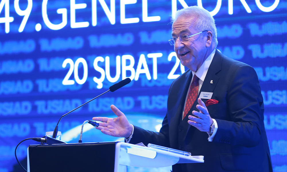 TÜSİAD Başkanı o sözleri söyleyince canlı yayın bir anda kesildi
