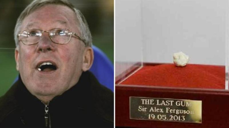 Ferguson'un son maçında çiğnediği sakız, açık artırmada rekor kırdı