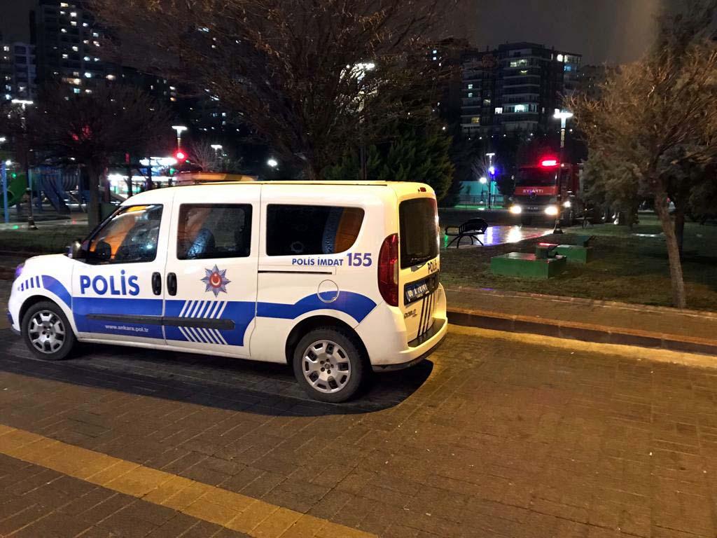 Ankara'da aqua parkta korkutan yangın