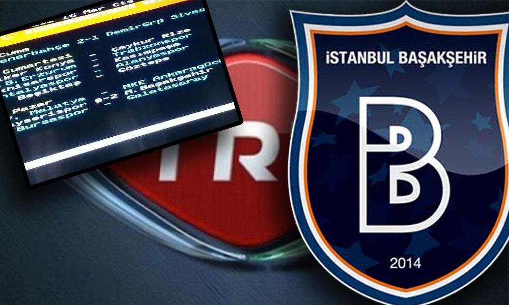 Skandal iddia: TRT Başakşehirspor maçının sonucunu bir gün önce yayınladı