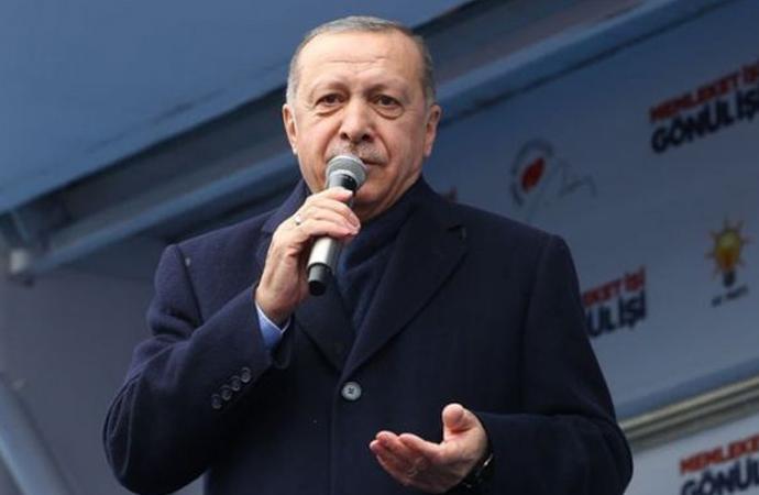 Erdoğan, mitingde katliam görüntülerini izletti!