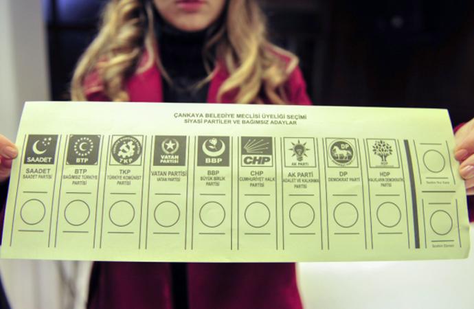 İşte yerel seçimlerde kullanılacak oy pusulası!