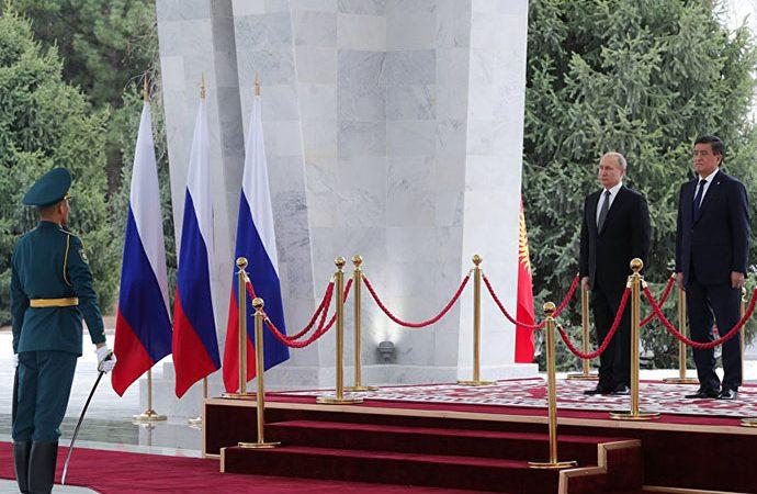 Putin'den Kırgız askerlere 'Türkçe' sürprizi