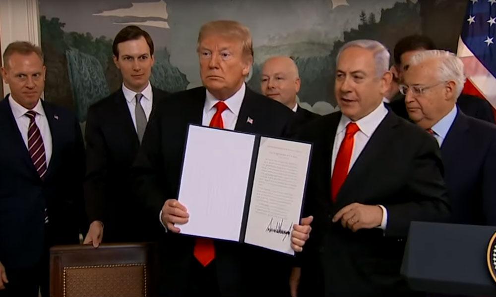 ABD Başkanı Trump, Golan Tepeleri'ni İsrail toprağı olarak tanıdı; İsrail Gazze'yi vurdu…