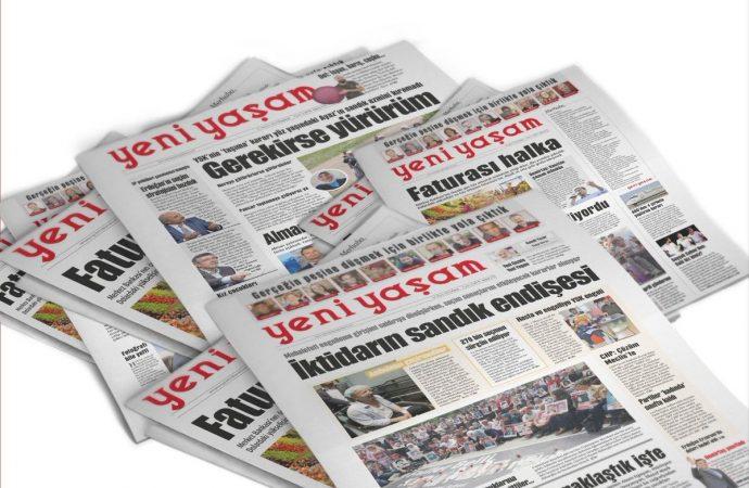 Yeni Yaşam gazetesinin 21 gün önceki nüshası için toplatma kararı