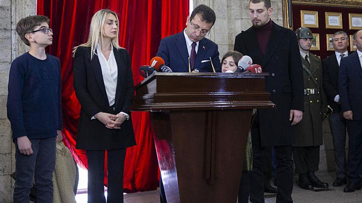 Ekrem İmamoğlu'ndan Erdoğan'a Anıtkabir defteri yanıtı