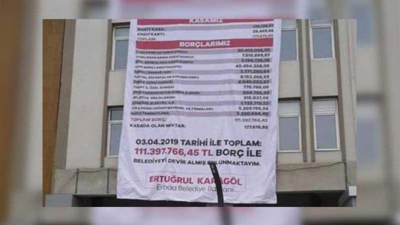 Yeni belediye başkanı eski AKP'li başkandan kalan borcu böyle ifşa etti