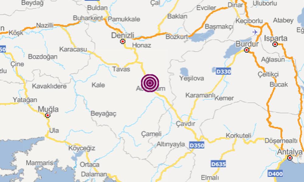 Acıpayam'da 4.3'lük deprem