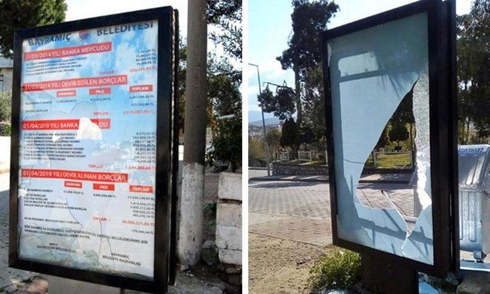 AKP'li belediyenin devrettiği borç halka duyuruldu! Billboardları kırdılar…