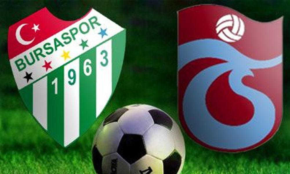 Trabzonspor, deplasmanda Bursaspor'u 1-0 mağlup etti