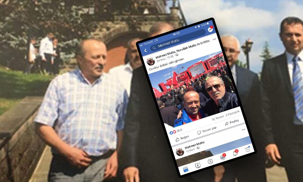Büyükçekmece Nüfus Müdürü'nün AKP mitinginde fotoğrafları çıktı