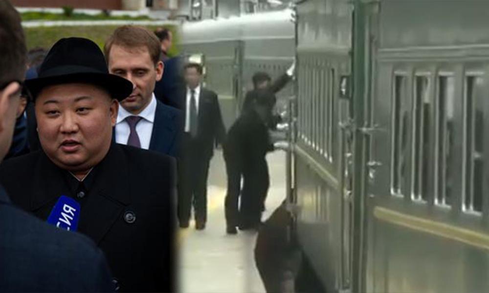 KDHC lideri Kim Jong-un Rusya'ya geldi: Tren daha durmadan camları böyle sildiler