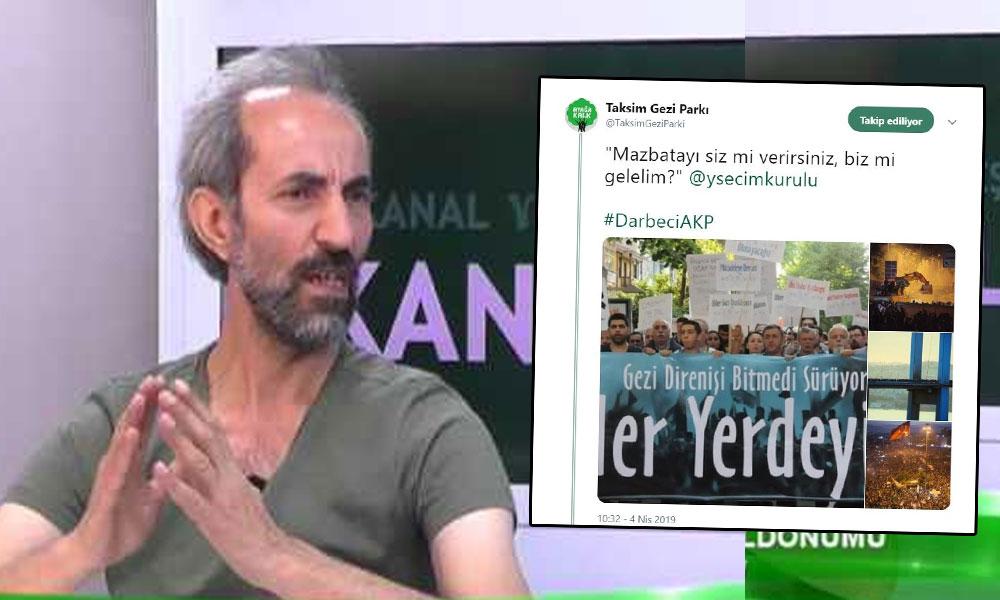 Gezi Parkı Derneği'nin eski başkanı anonim hesaptan atılan tweet nedeniyle gözaltına alındı