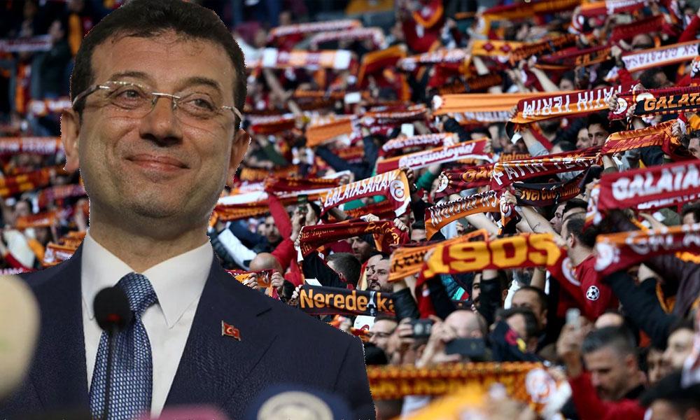 Galatasaray taraftarlarından Ekrem İmamoğlu'na destek
