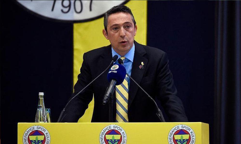 Fenerbahçe Başkanı Ali Koç'tan flaş 'teknik direktör' açıklaması