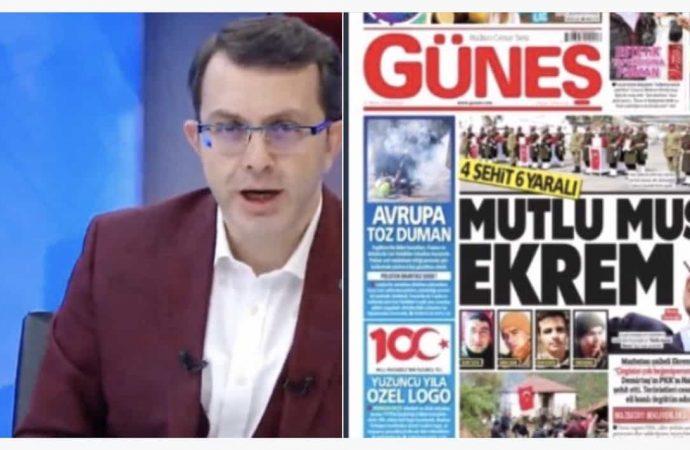Yandaş Güneş gazetesinden Ekrem İmamoğlu'na alçak manşet!